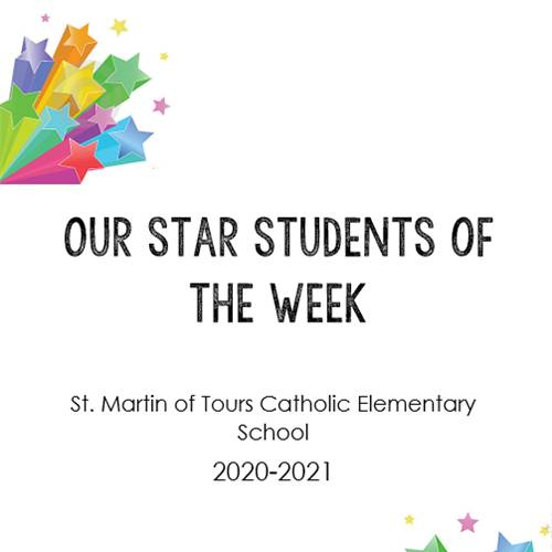 Our Star Students of the Week!